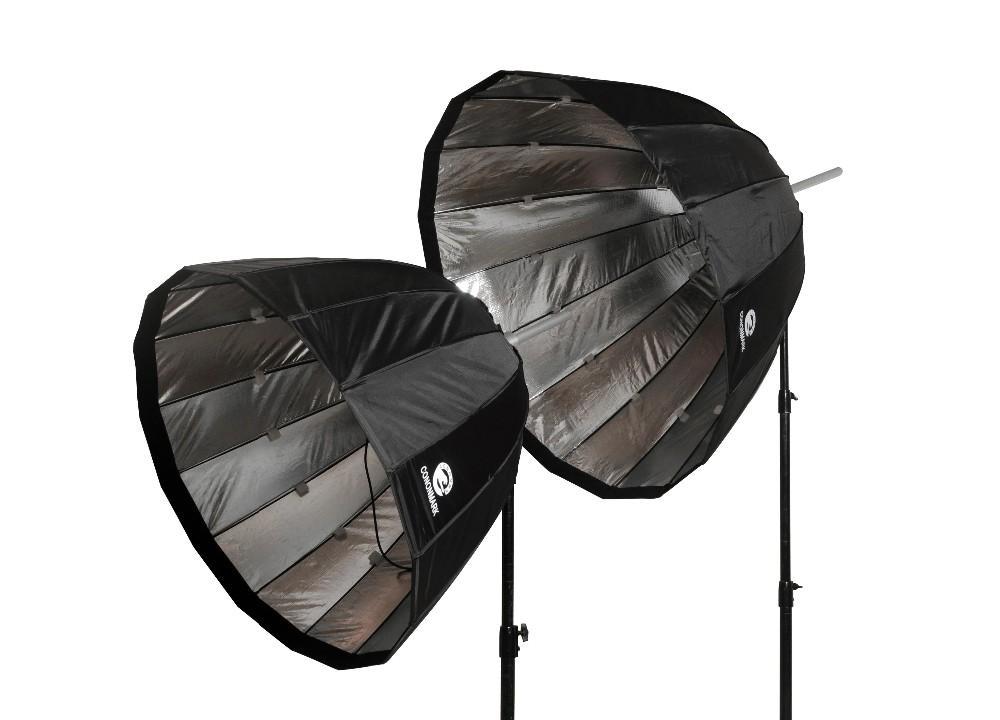 CONONMK 120CM Parabolic Softbox For Outdoor Strobe Light