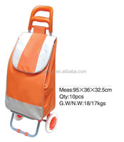 Foldable Supermarket Trolley Shopping Bag Wheeled Market Trolley Cart