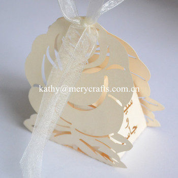 Luxury Wedding Decoration Laser Cut Wedding Favors Elegant Wedding