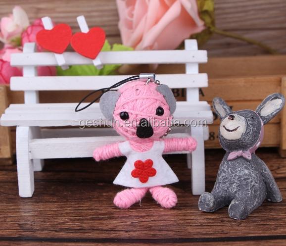 Bunny Pink Clever Voodoo Püppchen Schlüsselanhänger Voodoopuppe