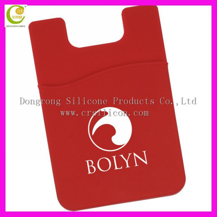 3m adhesive stickers custom made hot sale silicone phone pocket mobile phone card holders sticker