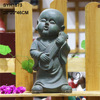 Buddha statue garden decor Japanese little monk garden statue