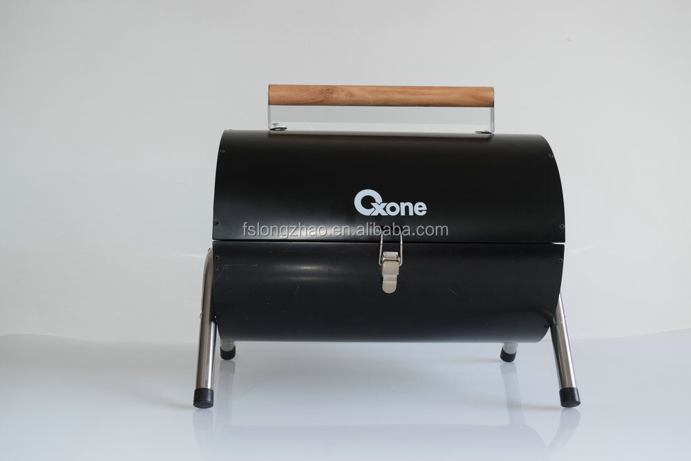 Outdoor folding portable cylinder barrel shaped charcoal korean bbq grill