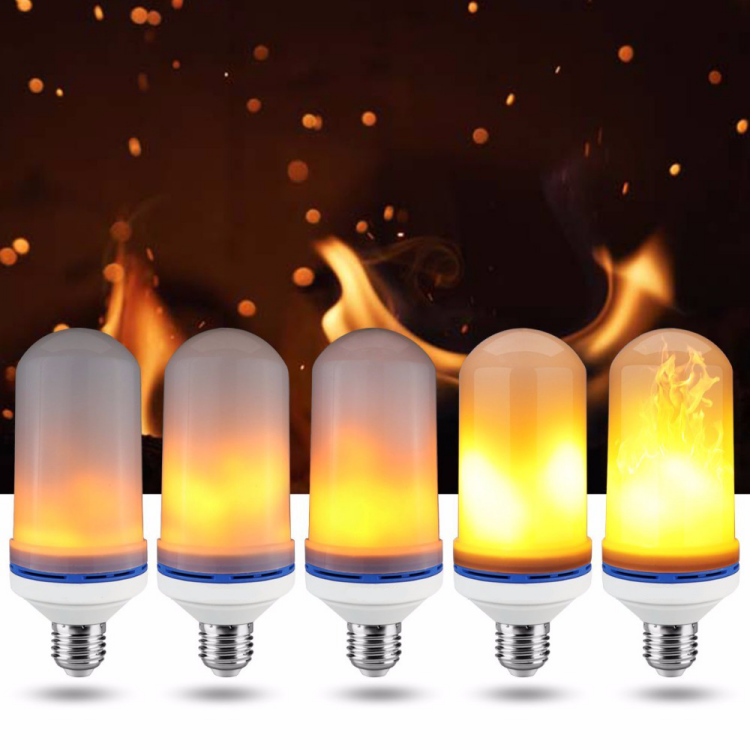 LED Flame Effect Fire Light Bulbs E26 E27 Decorative Light Atmosphere Lighting Vintage Flaming Lamp