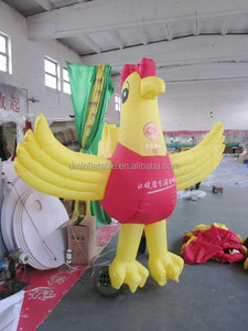 customized inflatable yellow cartoon characters ,giant inflatable chicken