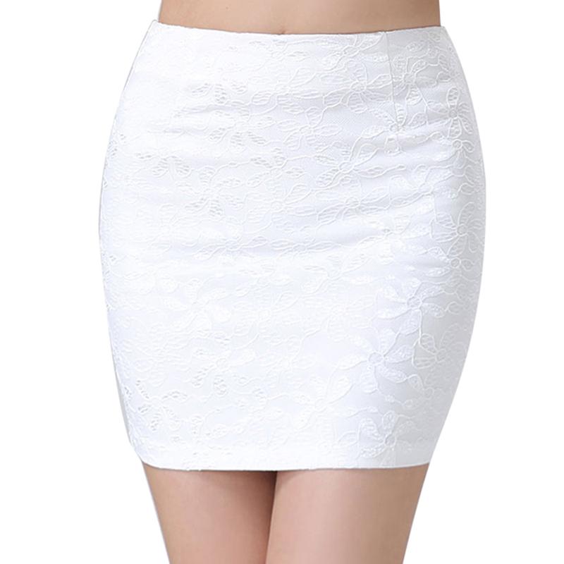 1 Pc Summer Women Mini Bodycon Pencil Skirt Lace Black ...