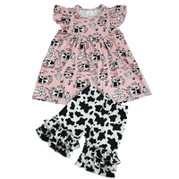Summer wholesale design cotton Girl Clothes set Fashion Clothing for baby girls 2019
