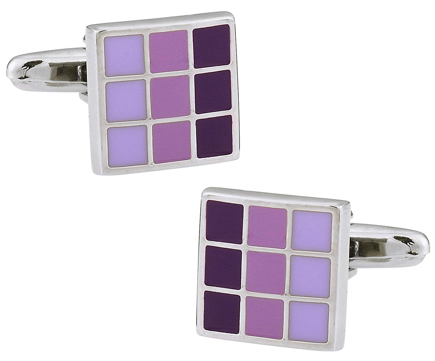 Cuff-Daddy Purple Enamel Gradient Cufflinks with Presentation Box