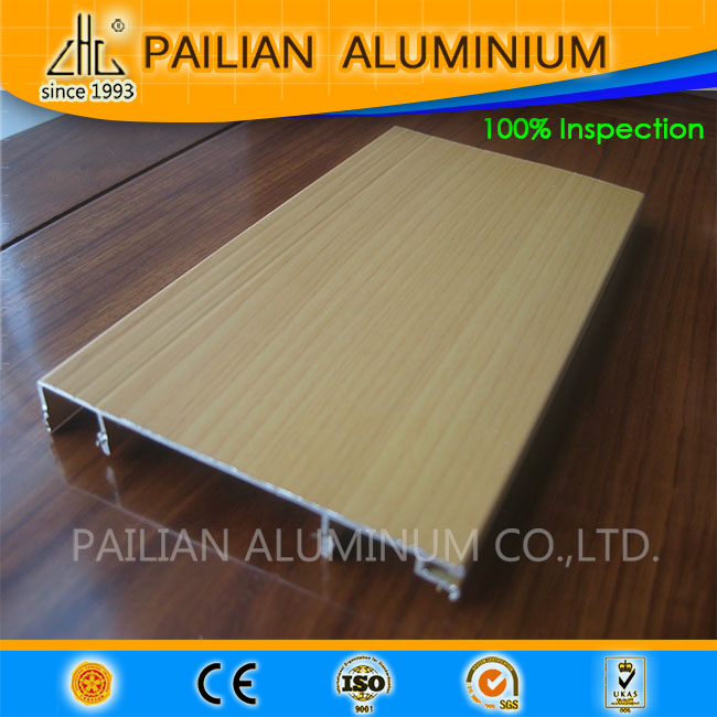zhonglian aluminium factory manuafcturering brushed / polished extruded aluminum trailer flooring for aluminium skirting lines