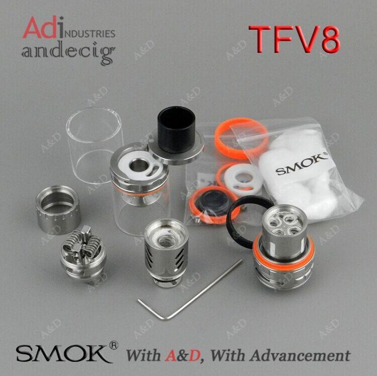 Smok Tfv8 Sub Ohm Tank Full Kit Gold Tfv8 Blue Tfv8