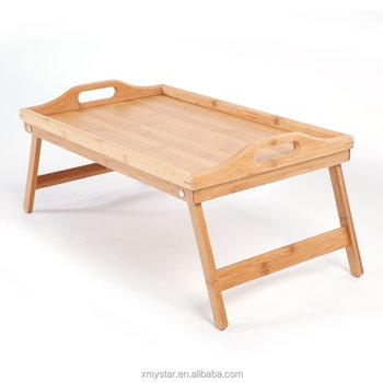 Tavoli Con Gambe Richiudibili.Bamboo Vassoio Tavolo Scrivania Con Gambe Pieghevoli Fabbrica Bsci