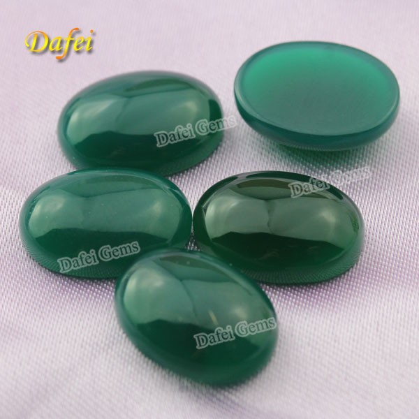 AAA Quality Natural Green Agate Gems For Jewelry