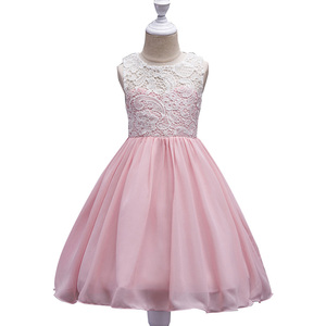 Boutiques lace A-line girls kids casual frock design clothing different years old cheap girl dress