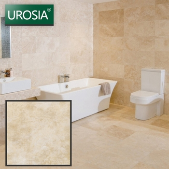 vintage 600 x 600 beige rough country style wall floor tiles water absorbent non slip commercial bathroom floor tiles