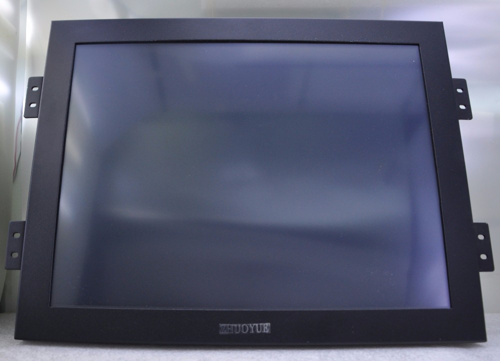 new 17 inch 4:3 vga dvi input USB Industrial LCD touch screen monitor