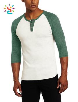 sports shoes 8b986 35bc9 Alternative Apparel Raglan Baseball Tee Shirt Men s Green Raglan 3 4 Sleeve  Tri Blend Shirt