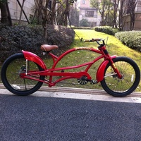 24 inch red color on sale discount retail sample long chopper cruiser bike