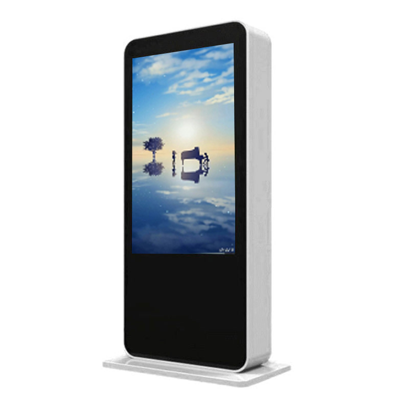 55 Inch Outdoor High Brightness Hotel Freestanding Info LCD Touchscreen Kiosk