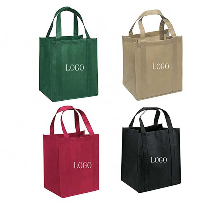 Wholesale Promotional reusable eco friendly custom logo printed grocery shopping ecological non woven fabric carry tote bag
