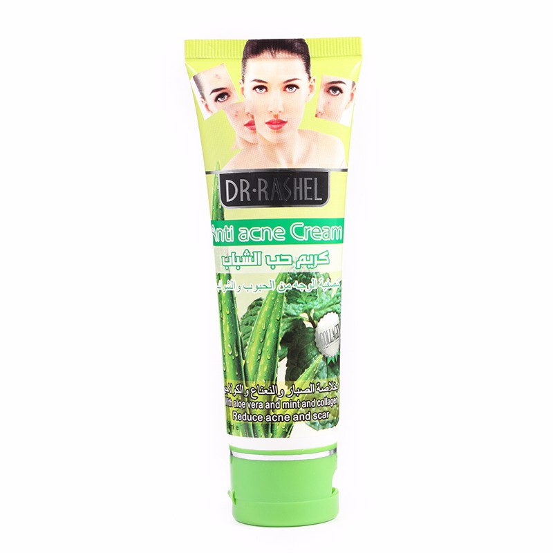 DR.RASHEL 80ml collagen aloe vera mint extract face cream remove pimple best anti-acne cream