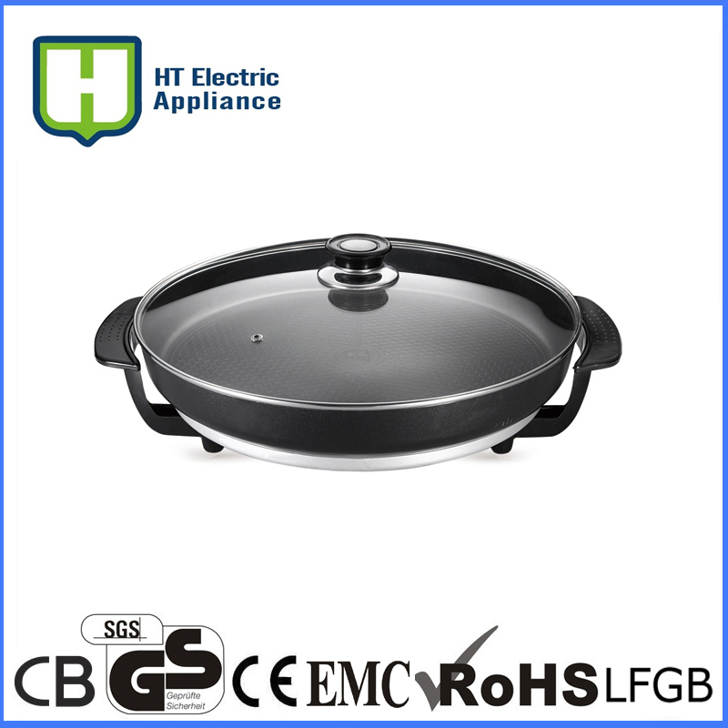 electric teflon pizza pan cast iron electric skillet multifunction electric skillet CE ROHS