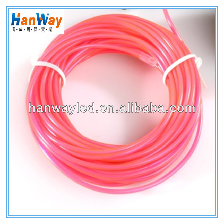 High brightness 1m 3m 5m el wire ,flexible neon el wire light ropes for car,glowing cheap el wire