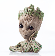 guardians of the galaxy groot Toy Hand up Pen Flower Pot guardianes de la galaxia  Action Figure Baby Groot Flower pot
