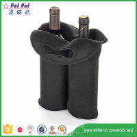 ISO/SEDEX France Style OEM Production Polyester 2 Bottle Wine Bag