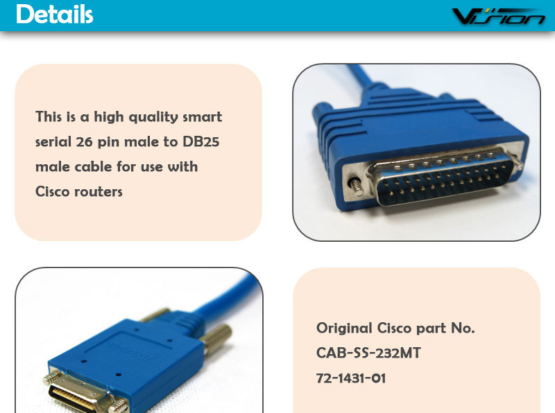 Cab Ss 232mt B Cisco Cable Db25 Male To Smart Serial 26