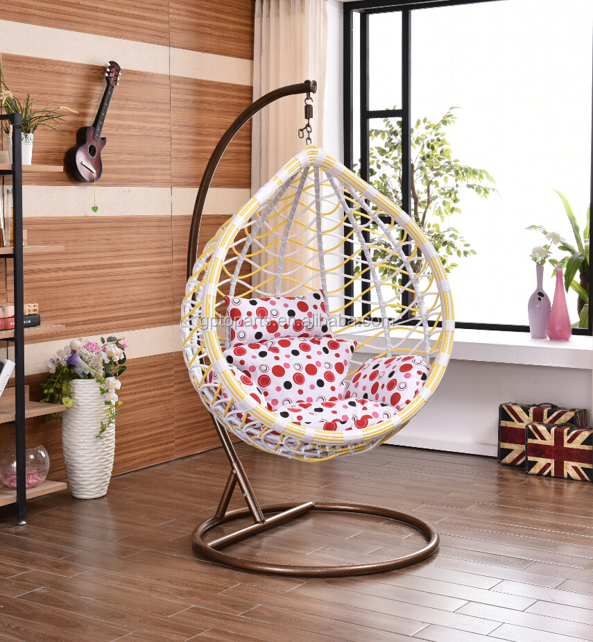 outdoor indoor swing chair ceiling hanging rattan chair with