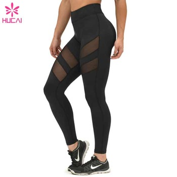 1973a400f74ae5 Wholesale Mesh Panel Yoga Pants Sexy Workout Tights Breathable Women Yoga  Leggings