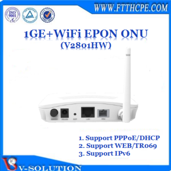 CE Certificated mini White Case FTTH 1GE Port GEPON WiFi ONU with L3 Route Function