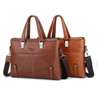 KSL660-1M Wholesale Hot Selling Good Quality Leather Men's Zipper Briefcase Business Bag