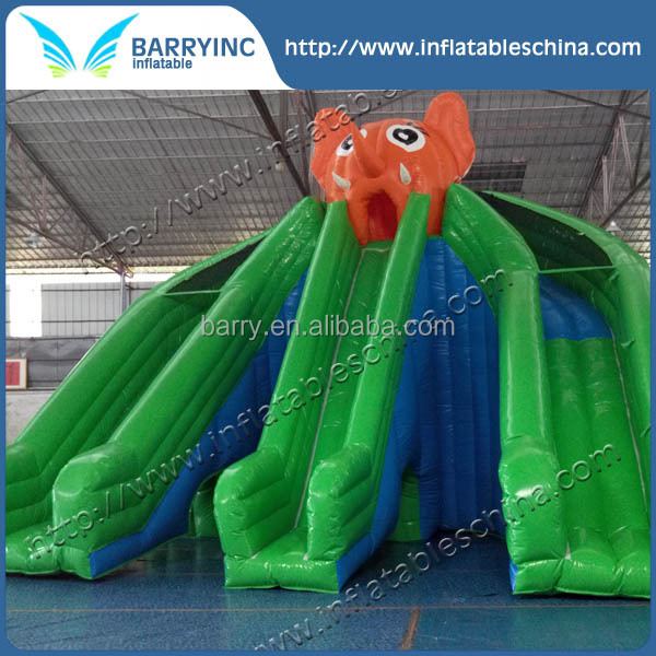 elephant design cheap inflatable slide for pool, inflatable slide for water park