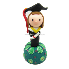 Custom-made graduation photo polymer clay pen with pen drag
