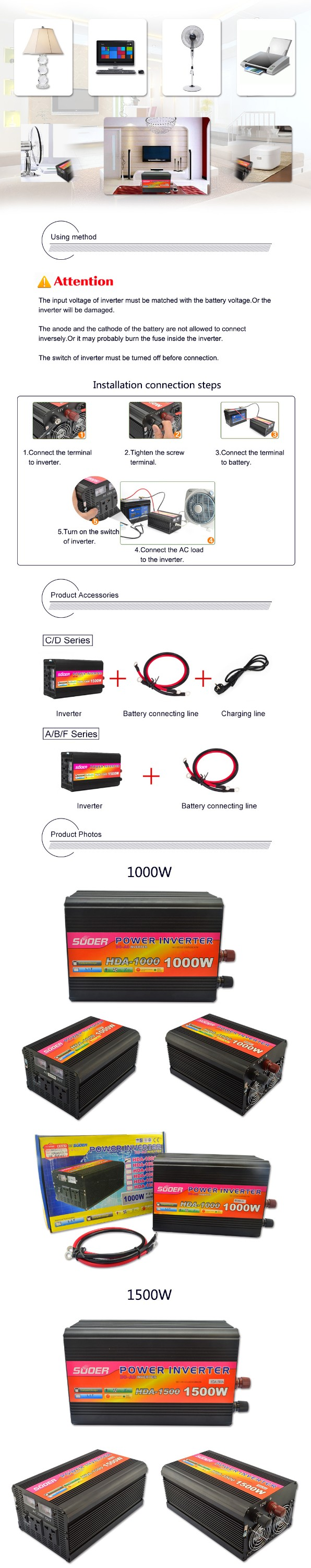 1000 Watt Power Inverter 12v Dc To Ac With Battery 220v Circuit Charging Function Charger