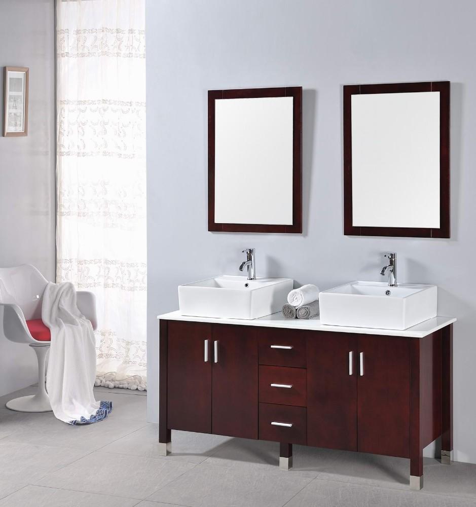 Double lavabo meuble salle de bain / rustique dubaï armoire de ...