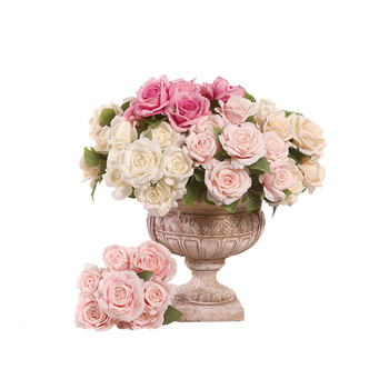 China cheap beautiful silk rose office home hotel artificial decoration flower