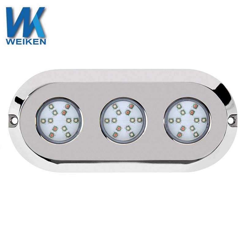 WEIKEN 180w wall mounted led swimming pool lights boat transom under sea water lights