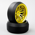 4pcs RC Car Model Toys Accessory Drift Tires Wheel Rim For 1 10 On Road Car