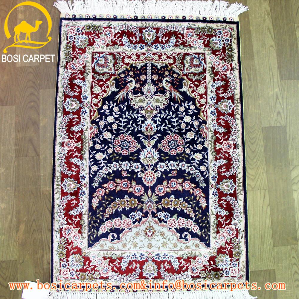 2x3ft Persan Soie Tapis Fait Main Accueil Textile Tabriz Tapis Prix
