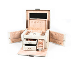 wholesale Luxury Cardboard white jewelry Box made by Wooden Mirror Inside