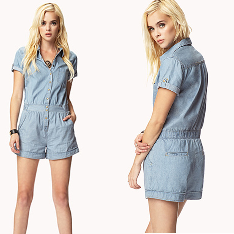 738114e3c9a Get Quotations · 2015 New female denim coveralls rompers vintage washed  casual loose jeans overalls shorts jumpsuit for girls