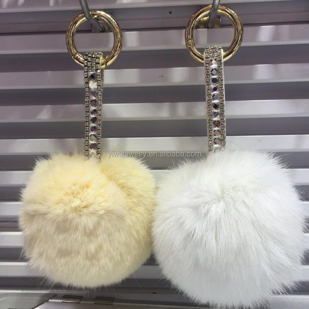 bd909f64b7 Cheap Wholesale Faux Fur Ball Solid Color Imitate Rabbit Fur Ball Keychain  Handbag Key Ring Car Key K024-010 - Buy Keychains For Bags