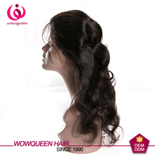 wowqueen factory price full lace peruvian virgin hair wigs with baby hair