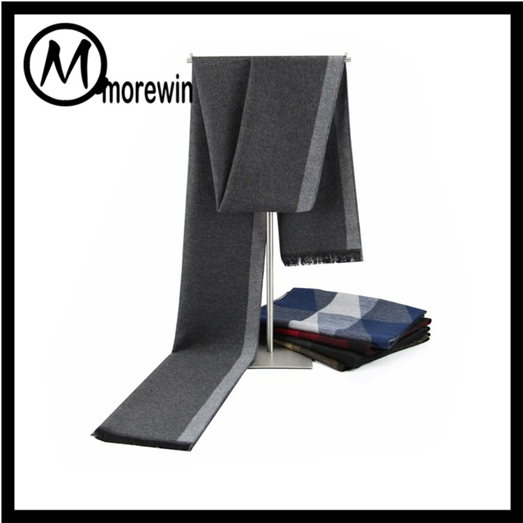 Morewin Brand custom new pure color camouflage winter men scarf knit cashmere scarf