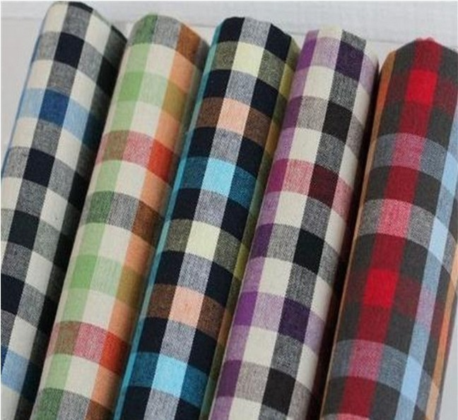 For Shirt 65 Polyester 35 Cotton Yarn Dyed Check Poplin