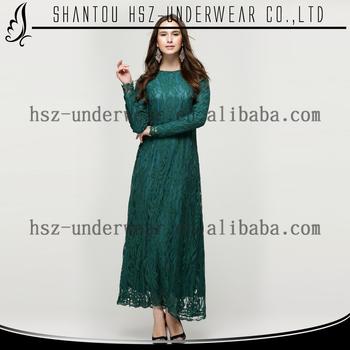 20565d63905fd Md10016 2015 New Arrive Islamic Women Clothing Abaya Kaftan Long Sleeve  Lace Maxi Dress Blouse Arabic Abaya Burqa Gamis Muslim - Buy Gamis ...