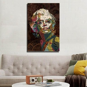 Abstract paintings of famous figures printed canvas painting for living room and hotel decoration