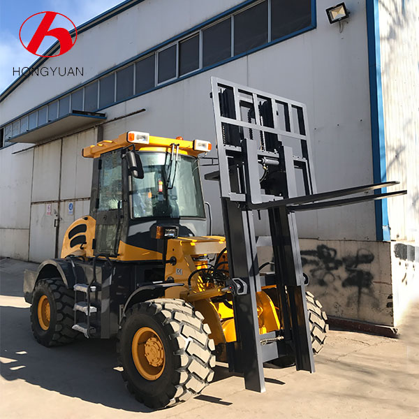 Manufacturer Articulated Rough Terrain Forklift CPCY30 For Sale With Side Shift